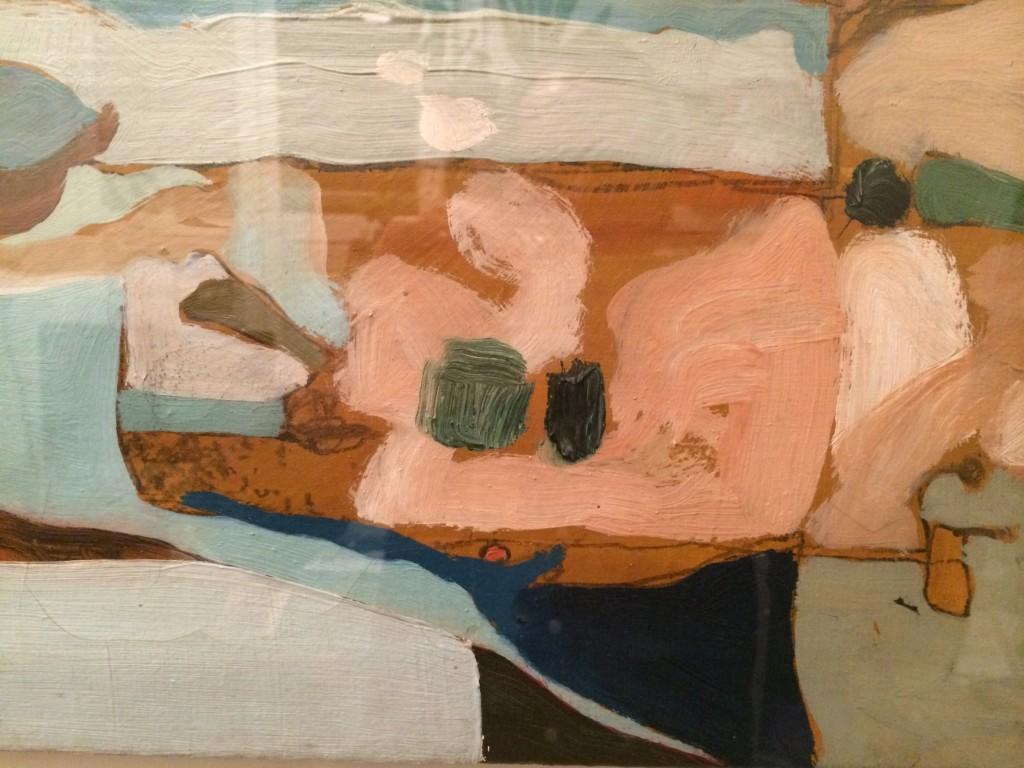 Michael Johnson oil on canvas circa 1962