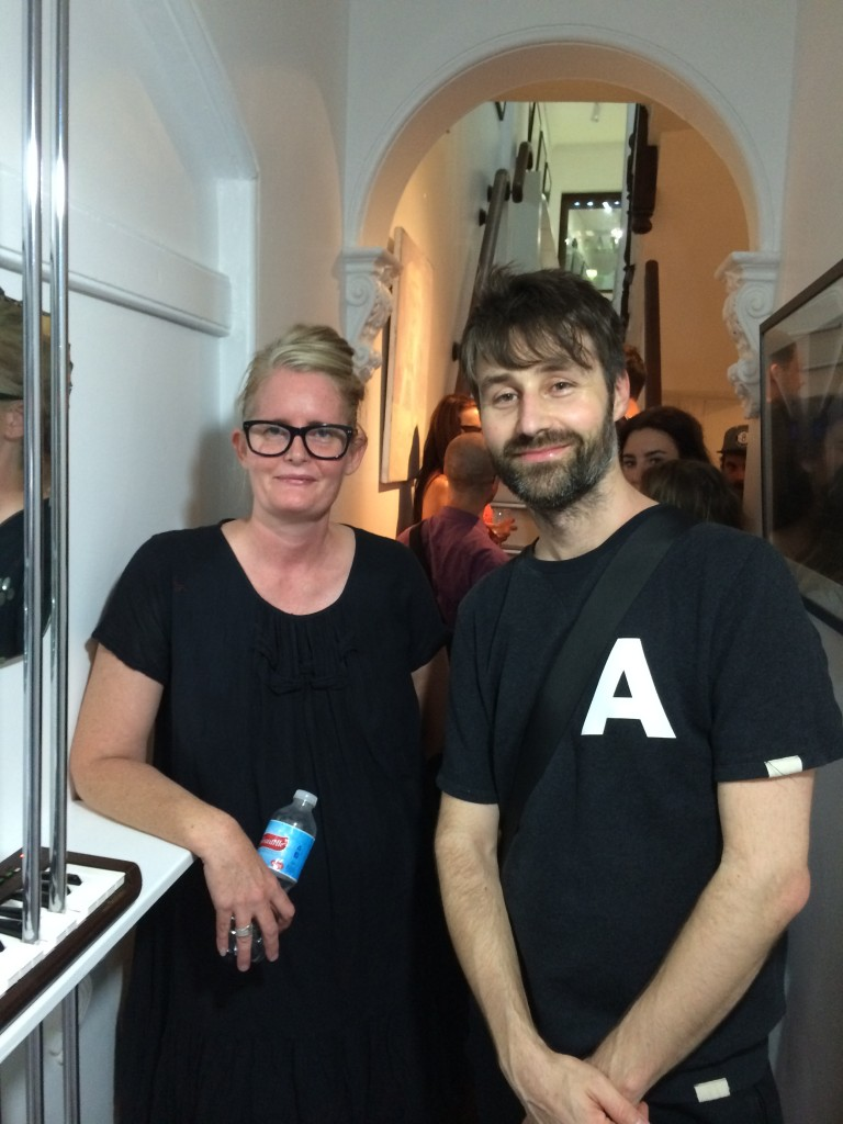 curator Madeleine Preston with Julian Day