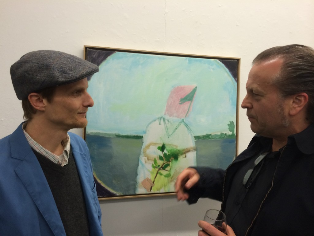 Artist Nick Collerson and Anthony Bautovich