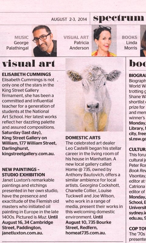 SMH review of Home@735 Gallery - 2/8/14