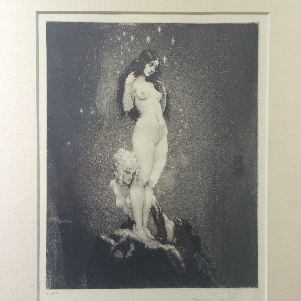 Norman Lindsay (1879-1969) Under the Stars, etching