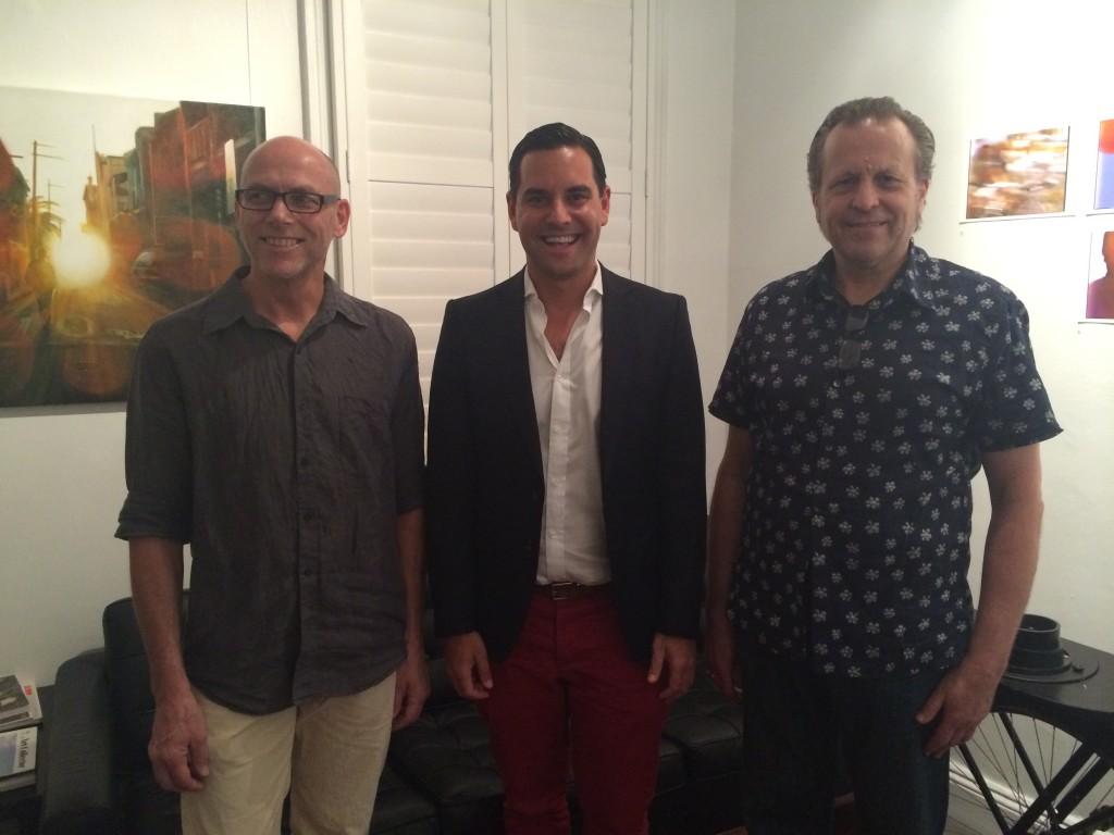 Artist Gilbert Grace, Alex Grenwich and Anthony Bautovich