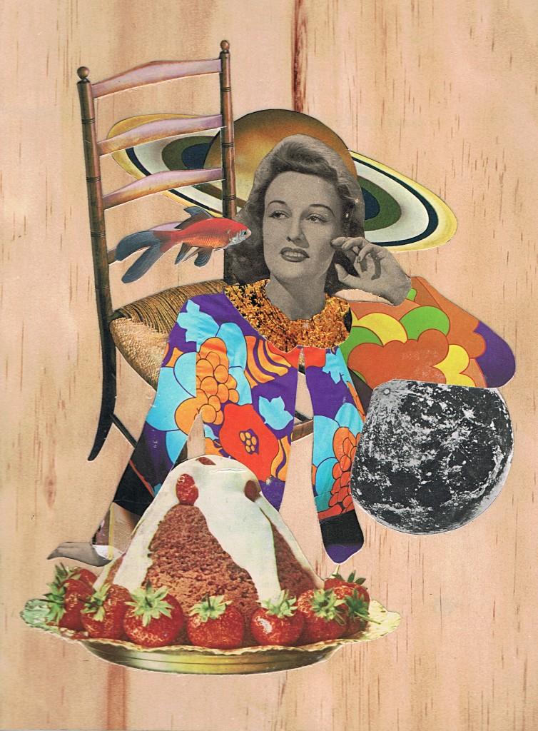 Liz Peniazeva, Space Lady, collage, 2015