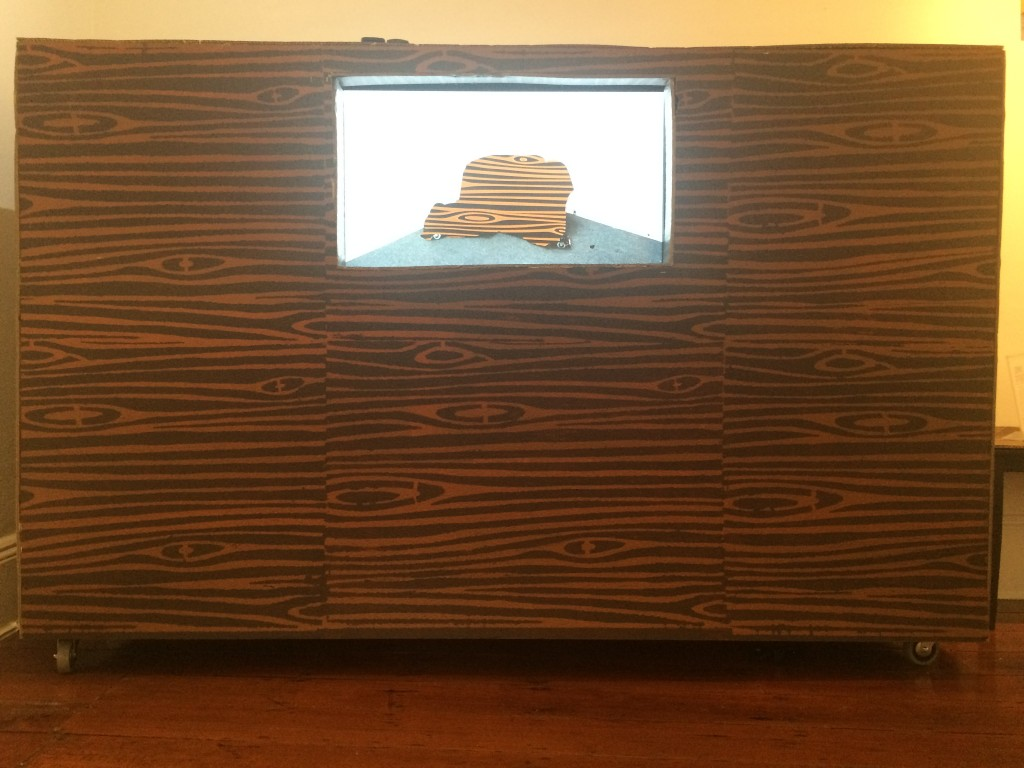 Dominic Byrne, Stop Motion Animation, video, cardboard, 2015 NFS