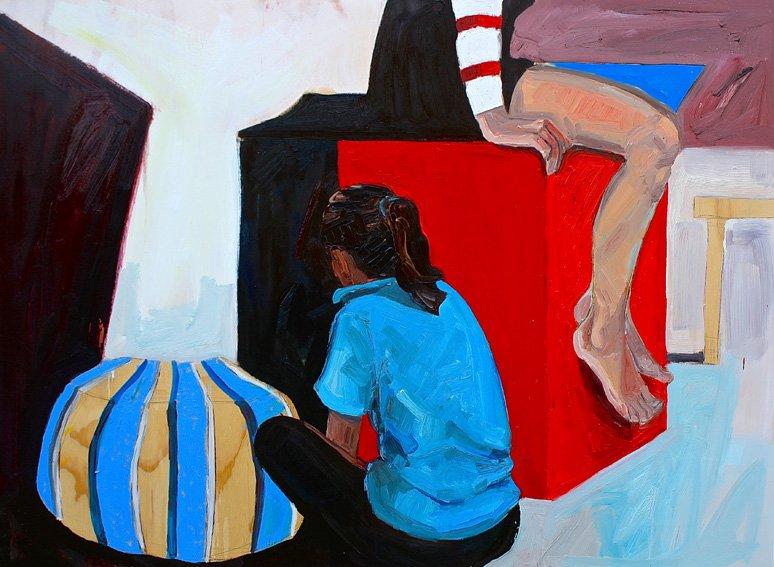 Joanna Gambotto, Making No Noise, 2015, oil on canvas