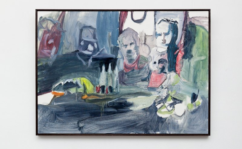 Evening Meal, Tanagras Archive: The discrete charm of the Bourgeoisie, 2015, oil on paper.