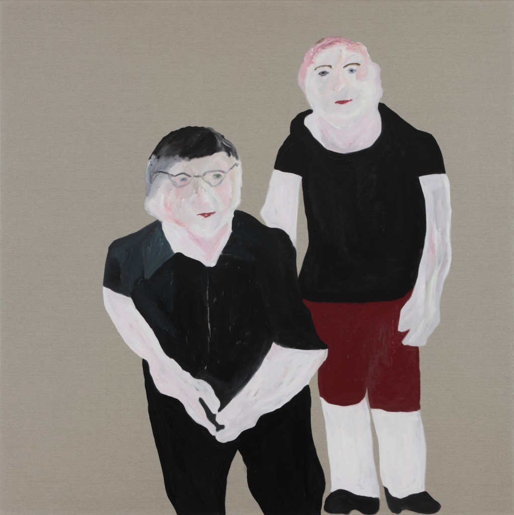 Brent (Harris) and Andrew (Browne), 2014, oil on glue sized linen