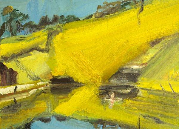 Robert Malherbe, Ingar Creek, 2015, oil on linen.