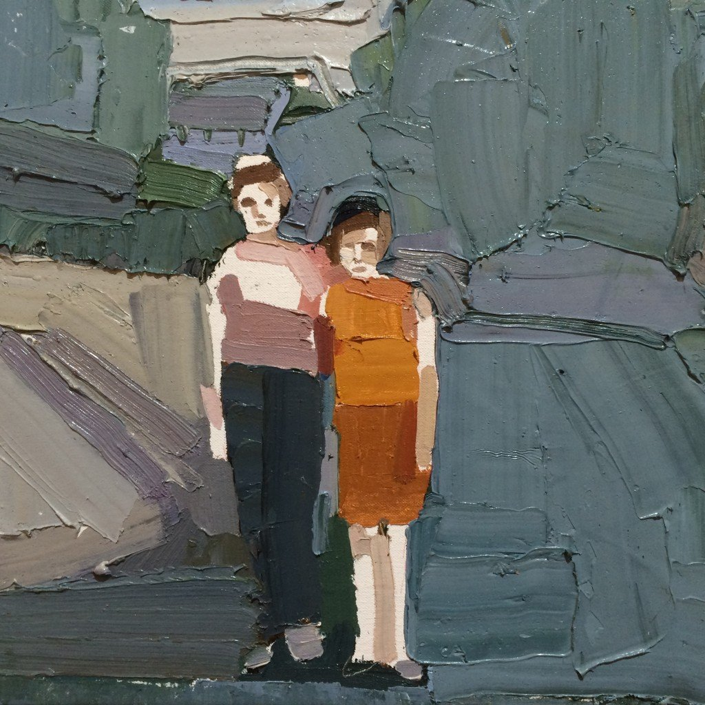 Clara Adolphs, Two Girls, 2015, oil on canvas.