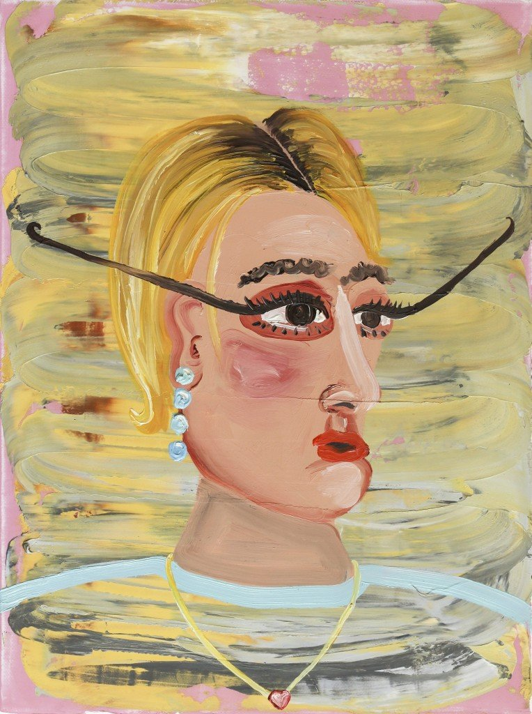 Amber Boardman, Eyeliner Competition, 2015, oil on canvas