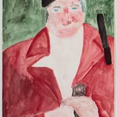 John Patterson (Clerk of Course), 2013, watercolour on paper