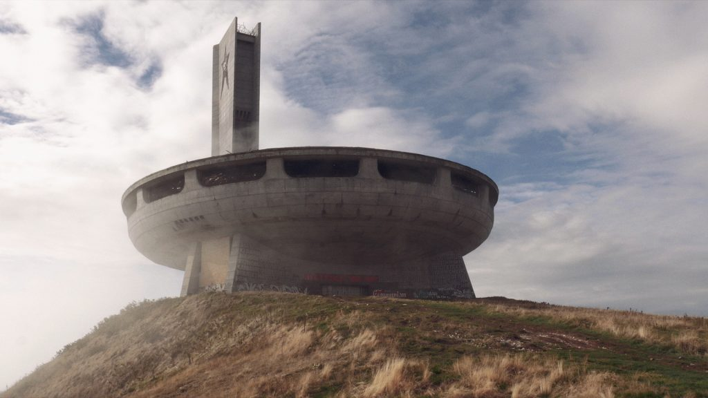 The Buzludzha monument in Bulgaria - a still from 'All of Them in There' by Kuba Dorabialski